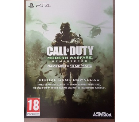 PS4 ps4 call of duty modern warfare remastered