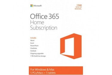 Microsoft Office 365 Home 6 months , for 5 PC