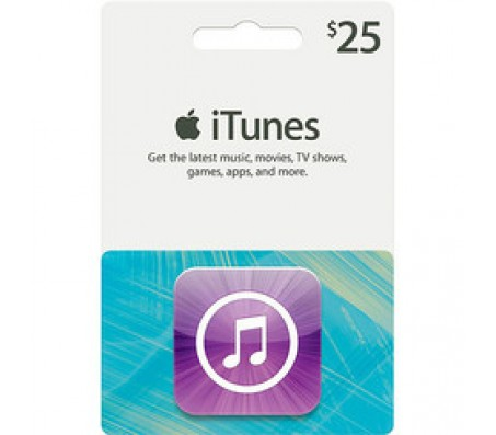 ITUNES  $25.00 - EMAIL DELIVERY