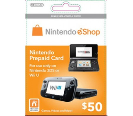 Nintendo E-Shop $50 Card - EMAIL DELIVERY