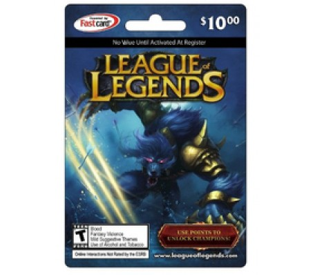 League of Legend $10- EMAIL DELIVERY