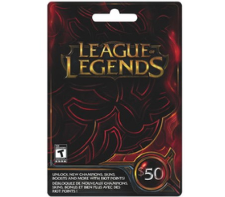 League of Legend $50- EMAIL DELIVERY